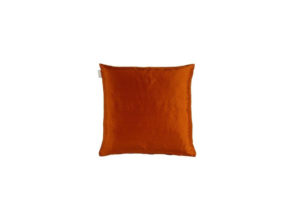 Cihlový povlak polštáře Dupion