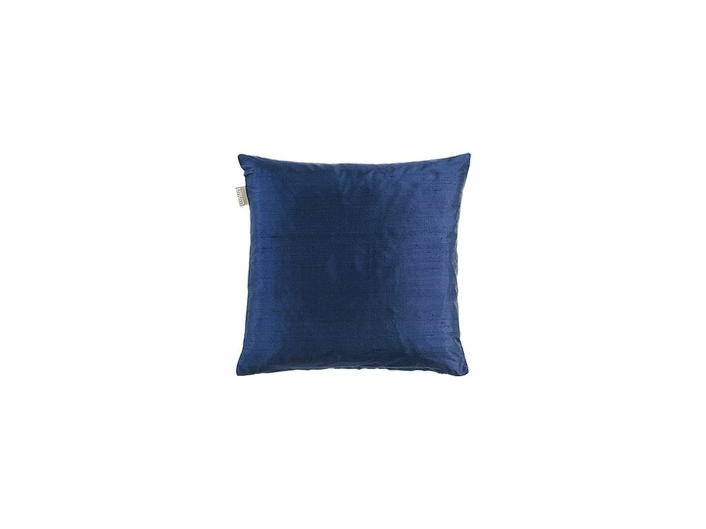 Tmavomodrý polštář Dupion