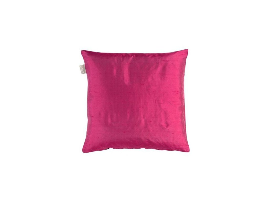 Sytě růžový polštář Dupion