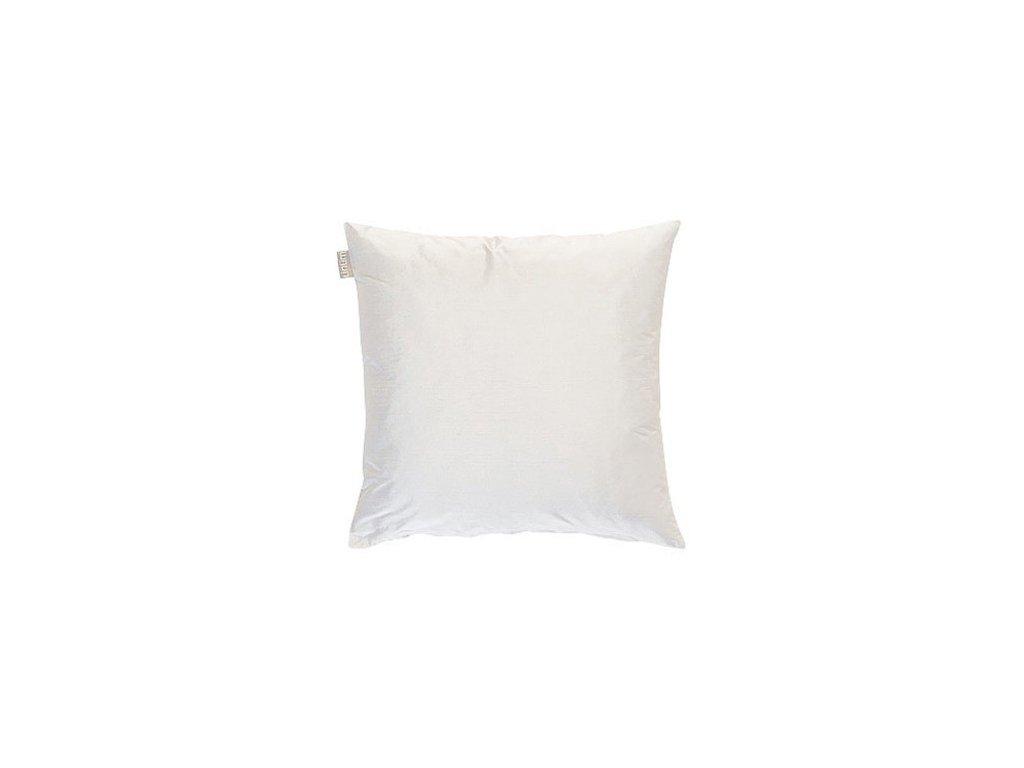 Bílý polštář Dupion