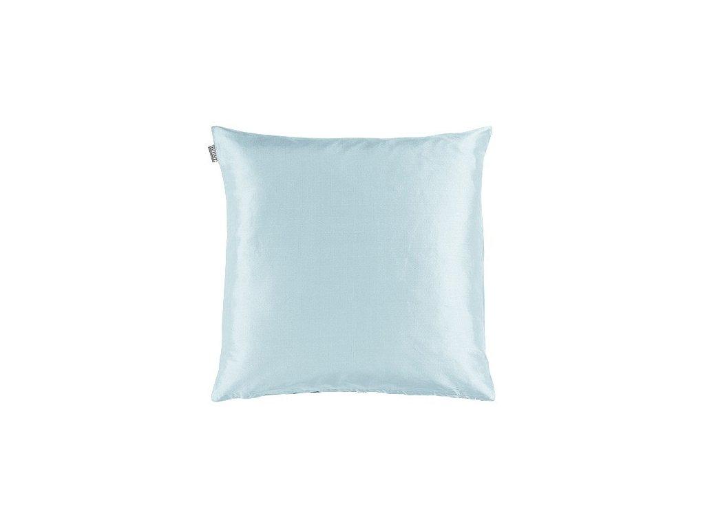 Bleděmodrý polštář Dupion