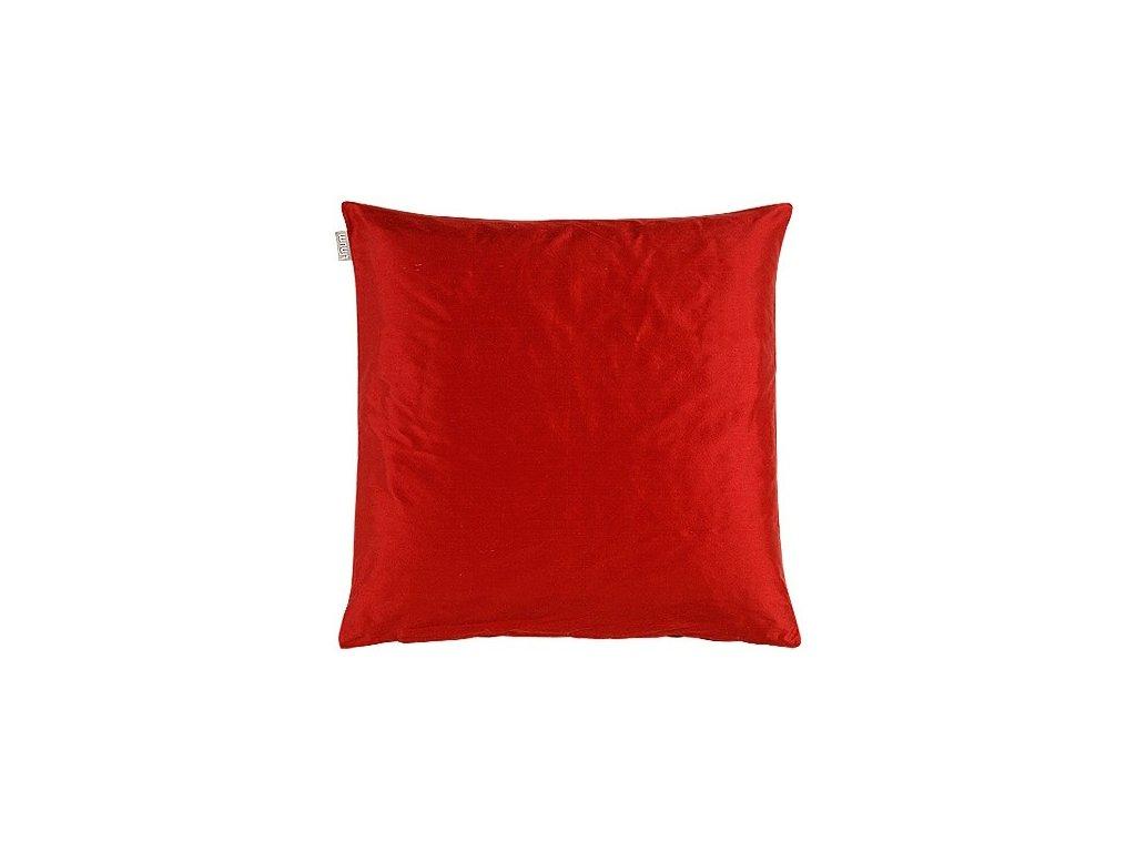 Červený polštář Dupion