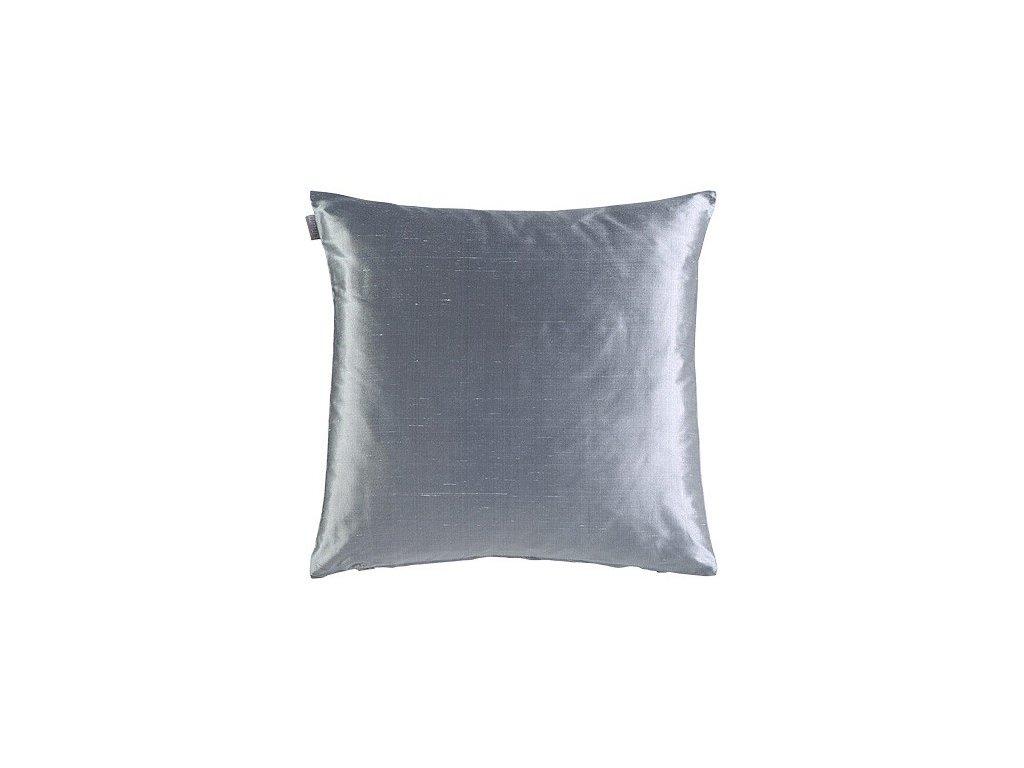 Stříbrný polštář Dupion