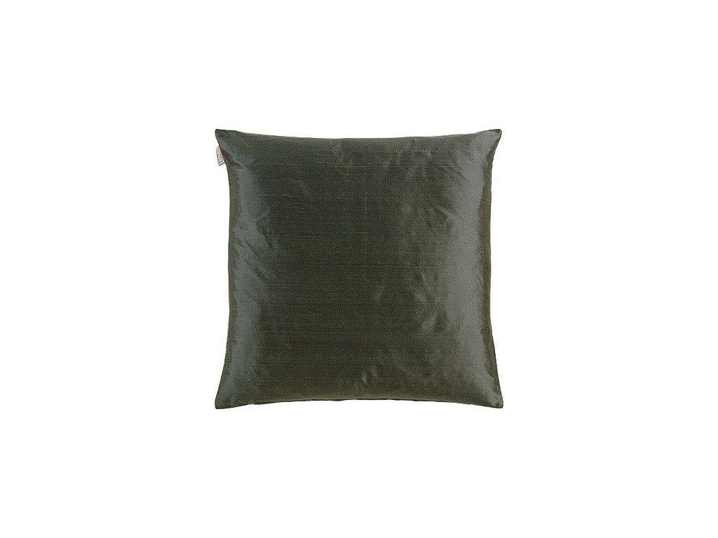 Antracitový polštář Dupion
