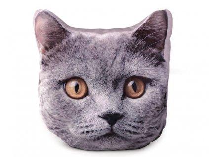 Tvarovaný polštář kočka