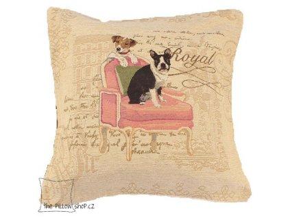 Povlak polštáře Royal Dog