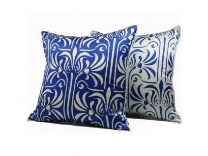 Modrý polštář Florence