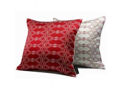 Červený povlak polštáře Athena