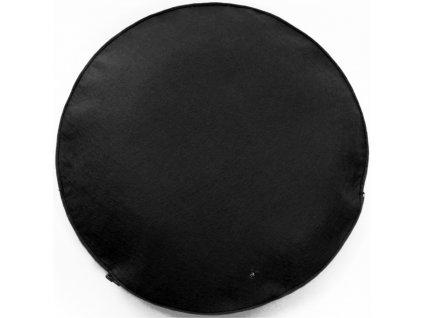 Černý kulatý polštář Belli