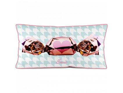Podélný povlak polštáře bonbon Rose