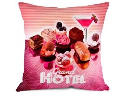 Sladký povlak polštářku Grand Hotel