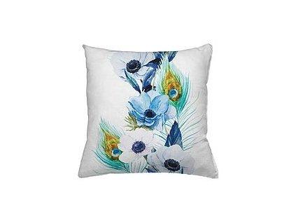 Polštář Blue Peacock Flower