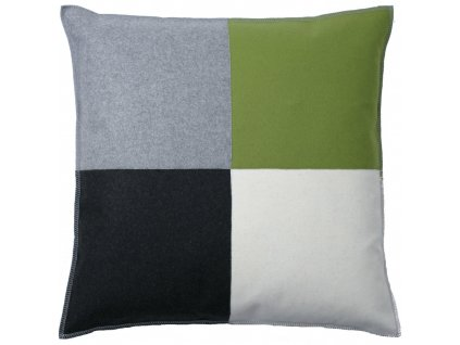 Šedo-zelený povlak polštáře Schack