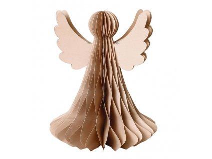 Vánoční papírová dekorace - anděl