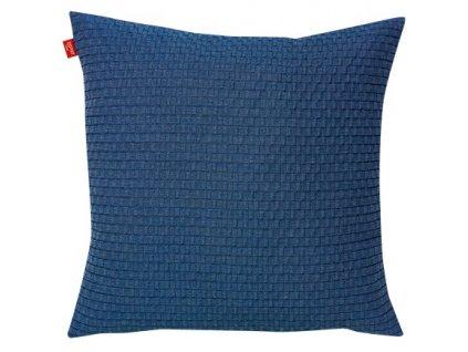 Tmavě modrý polštář Beat