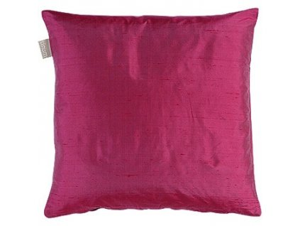 Tmavě růžový povlak polštáře Dupion