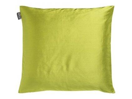 Polštář Dupion v jarní zelené
