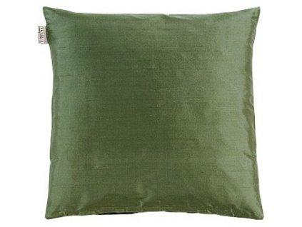 Tmavý zelený povlak polštáře Dupion