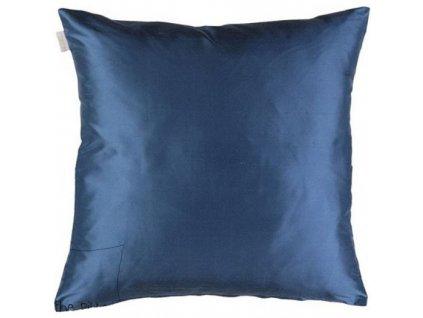 Modrošedý povlak polštáře Dupion