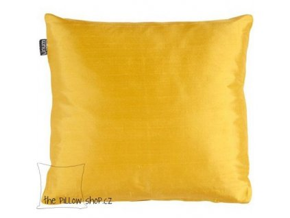 Žlutý povlak polštáře Dupion