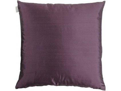 Tmavě fialový polštář Dupion