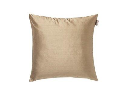 Béžový povlak polštáře Dupion