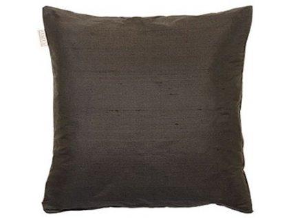 Černý polštář Dupion