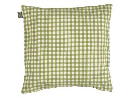Zelený kostkovaný povlak polštářku Osby