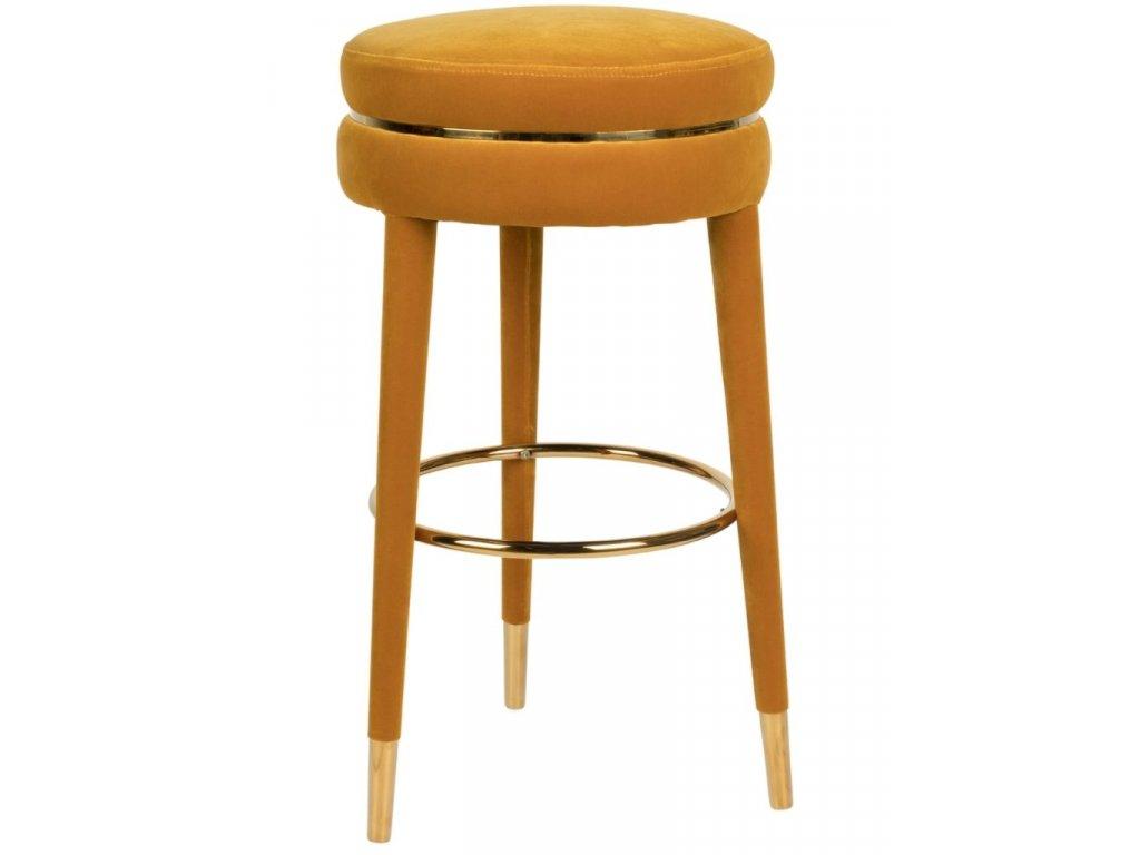 Okrově žlutá barová židle 78 cm Bold Monkey I Am Not A Macaron