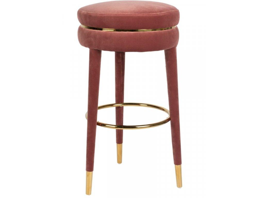 Růžová barová židle 78 cm Bold Monkey I Am Not A Macaron