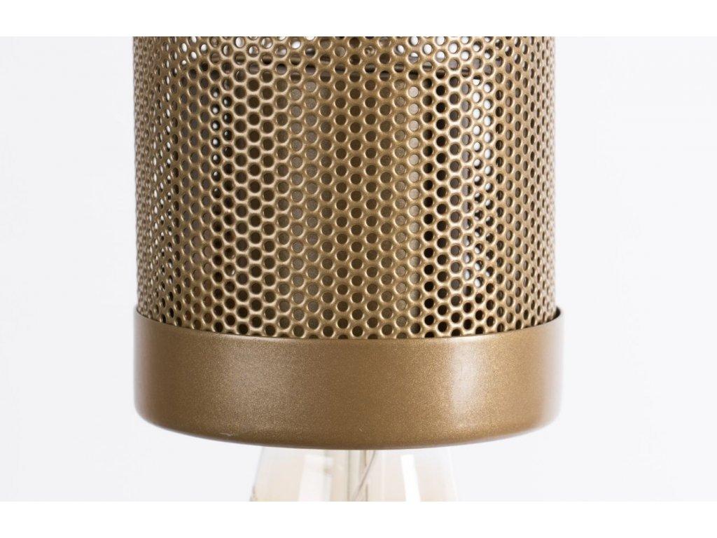 Zlaté kovové závěsné světlo Bold Monkey Sweet Mesh M
