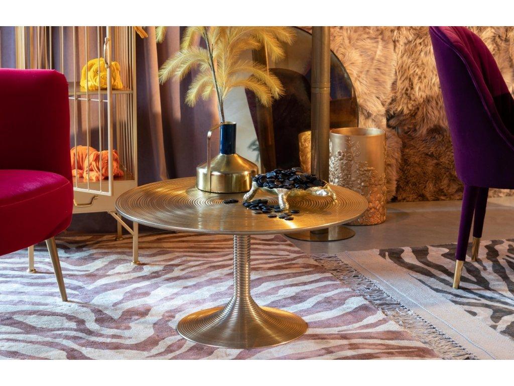Kulatý kovový konferenční stůl Bold Monkey Hypnotising, zlatá barva