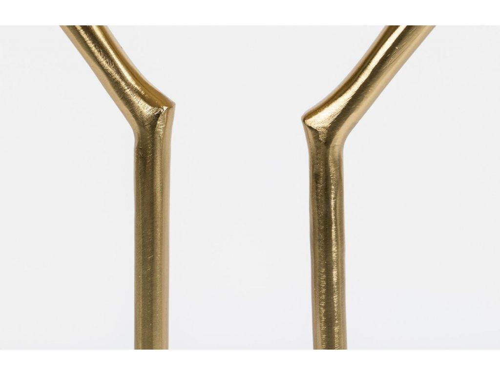 Kovový designový odkládací stolek Bold Monkey The Golden Heron, zlatá barva