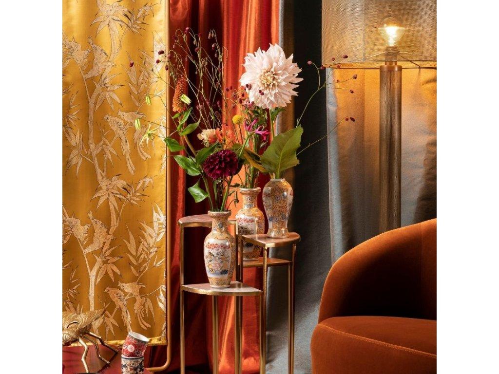Mramorový designový čtyřdílný odkládací stolek Bold Monkey The Perfect Cocktail, hnědá, zlatá barva