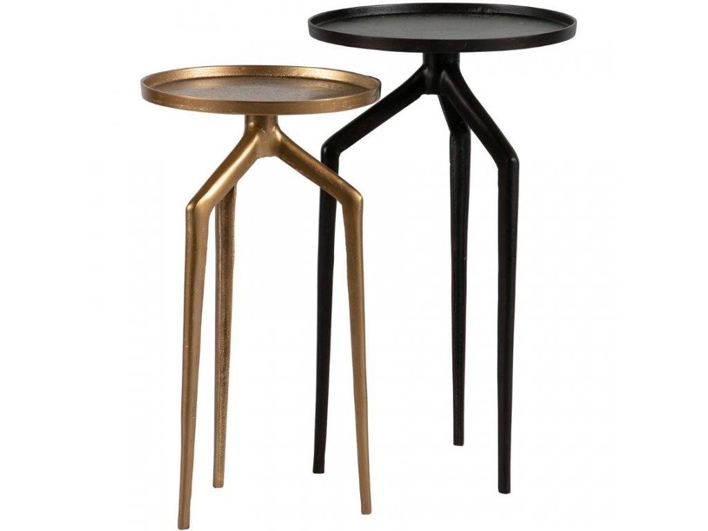 Set dvou kovových odkládacích stolků Beetle 30/35 cm