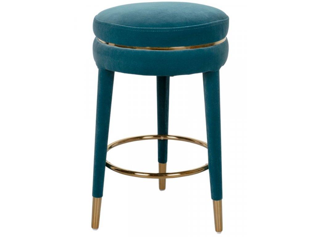 Modrá barová židle 67 cm Bold Monkey I Am Not A Macaron