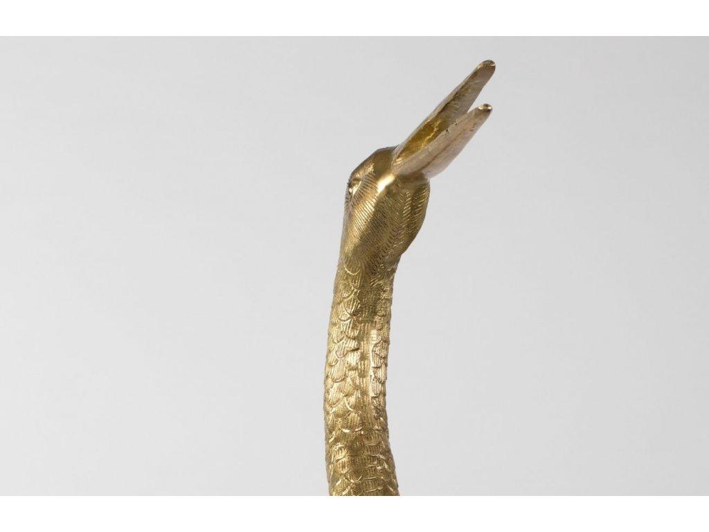 Zlatá kovová dekorace v podobě Volavky Bold Monkey A Tall Handsome
