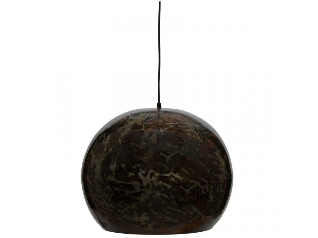 Černé kovové závěsné svítidlo Blint 44 cm