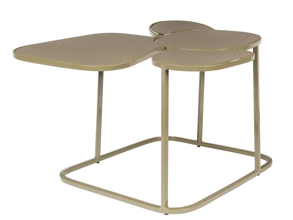 Béžový smaltovaný konferenční stolek ZUIVER Moondrop