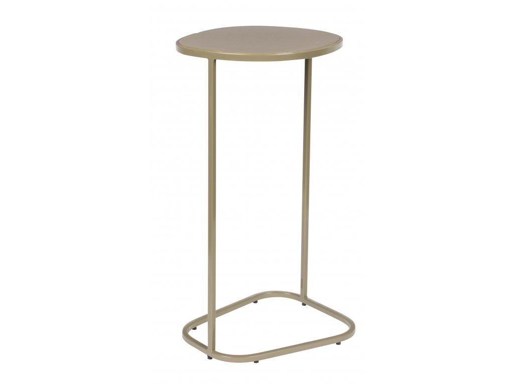 Hnědý smaltovaný odkládací stolek ZUIVER Moondrop