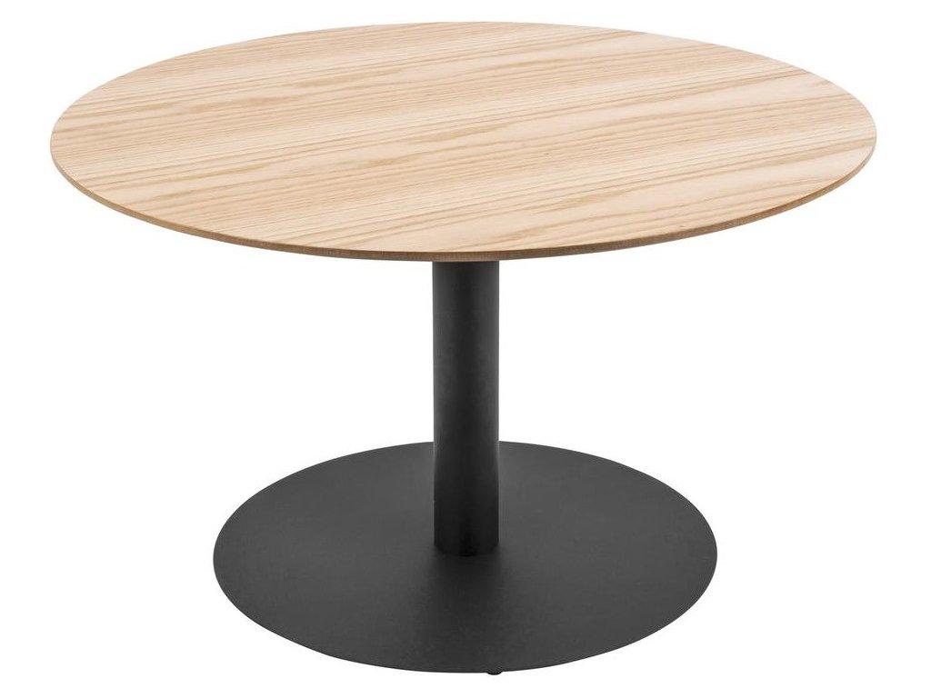 Přírodní světlý kulatý konferenční stolek Sulm