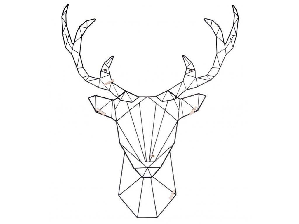 Černá nástěnná kovová dekorace Animal Dee