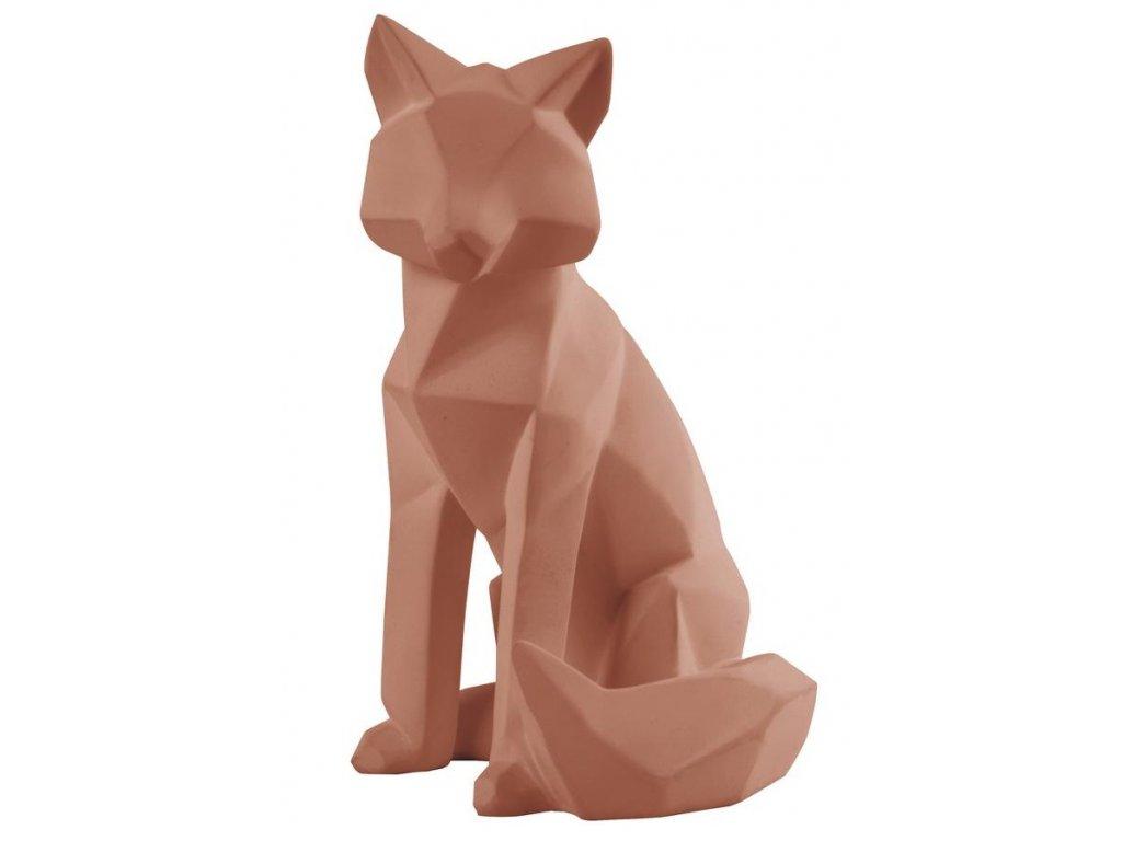 Hnědá dekorativní liška Origami L
