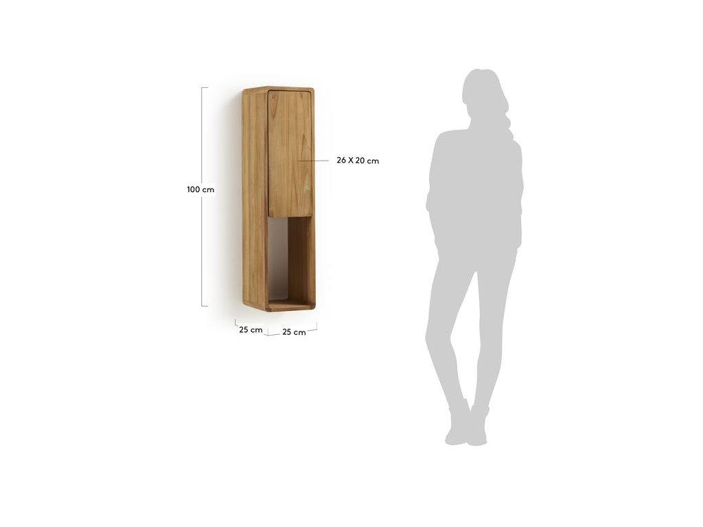 Dřevěná nástěnná police LaForma Sunday 25 x 100 cm