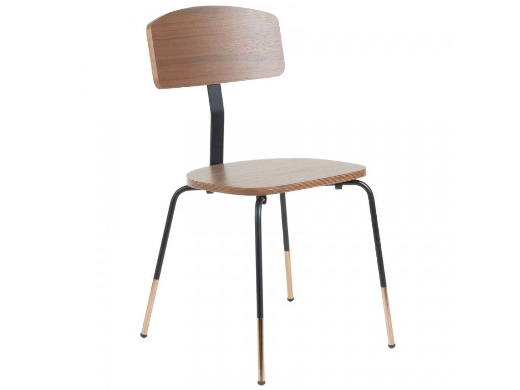 Ořechová jídelní židle LaForma Okay