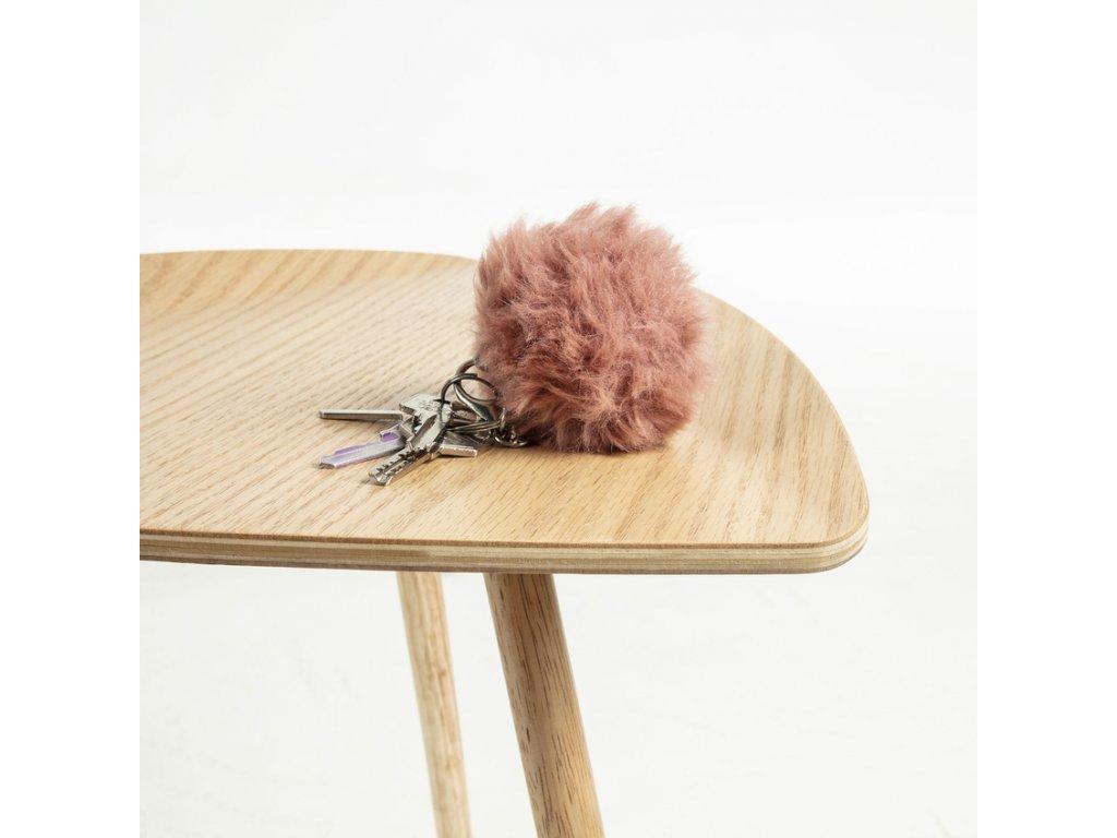 Světlý dřevěný odkládací stolek LaForma Damaris z dubové dýhy