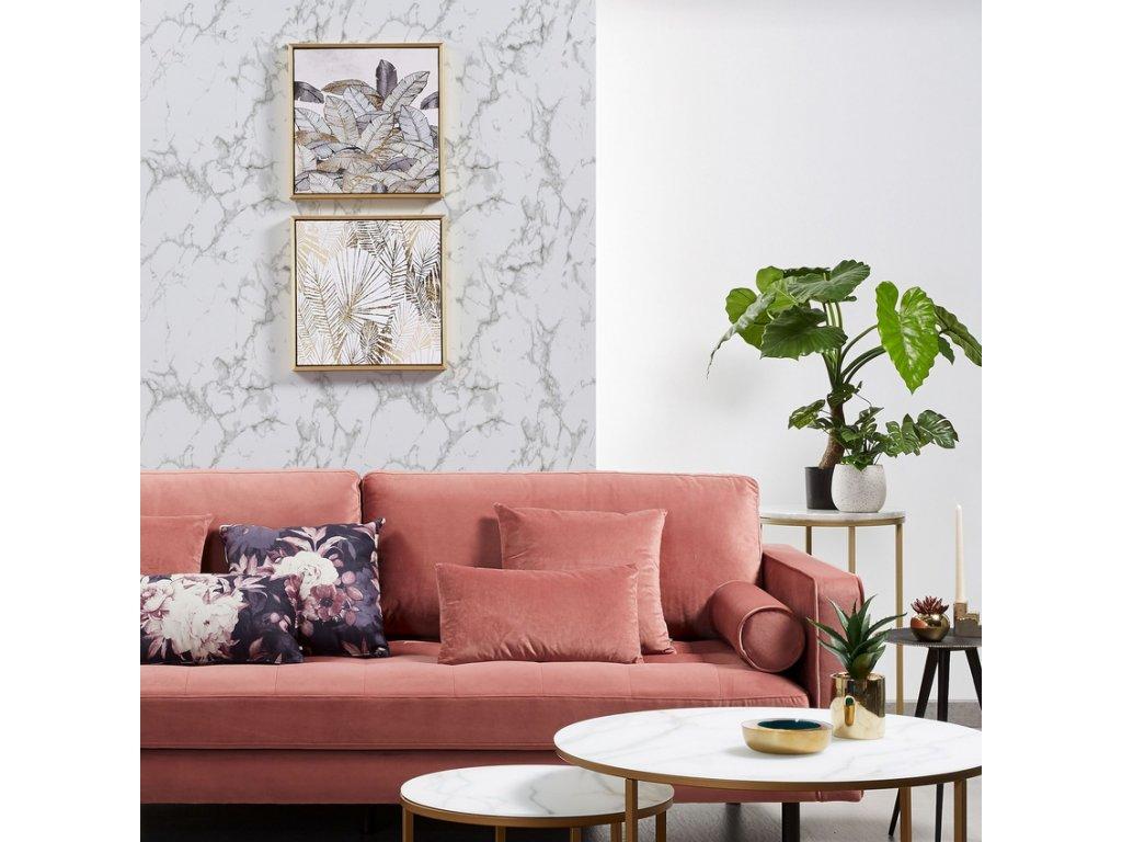 Designový obraz LaForma Ibisco s motivem zlatých a černých per