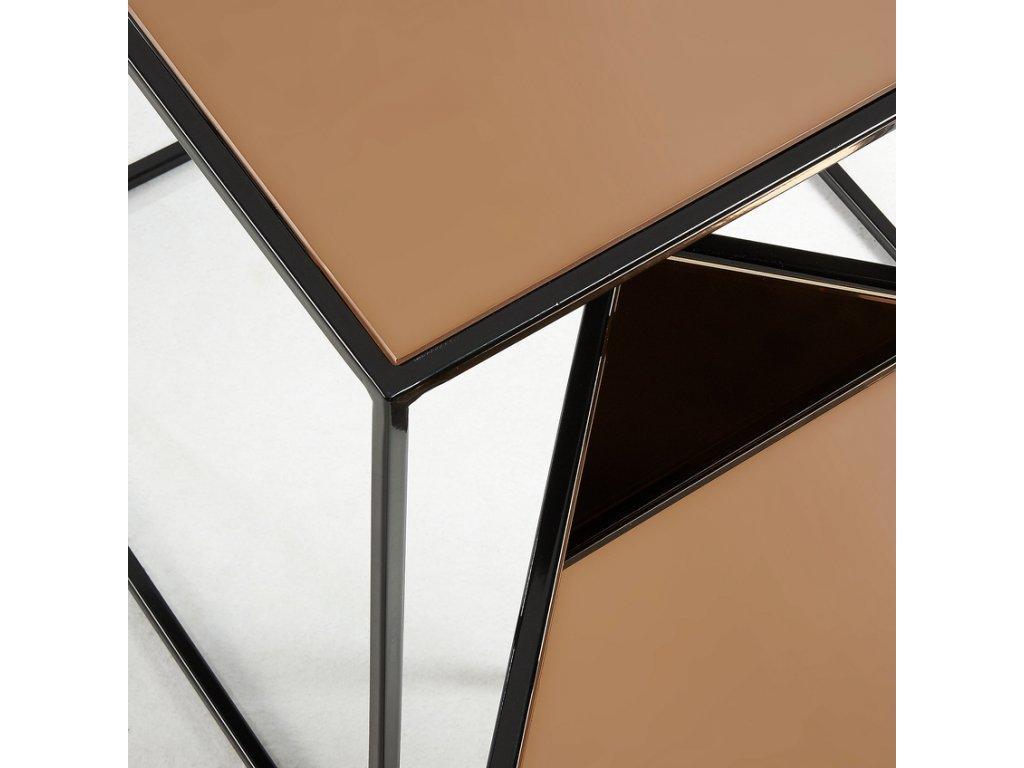 Set dvou metalických odkládacích stolků LaForma Sute