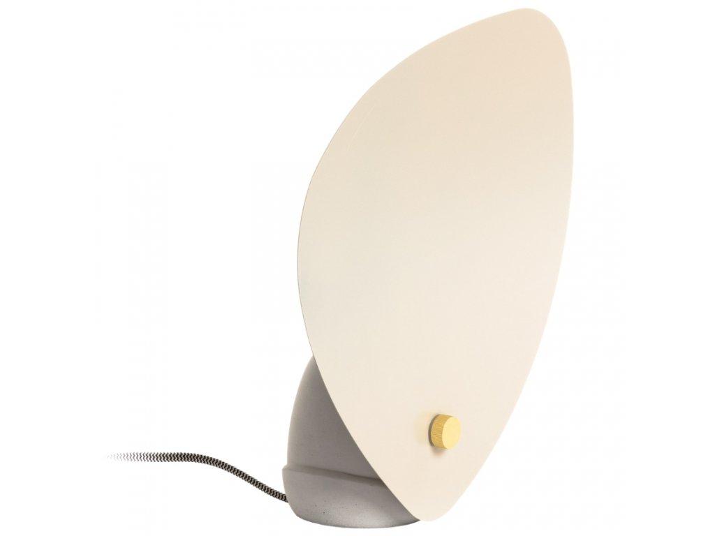 Betonová béžová stolní lampa LaForma Accas