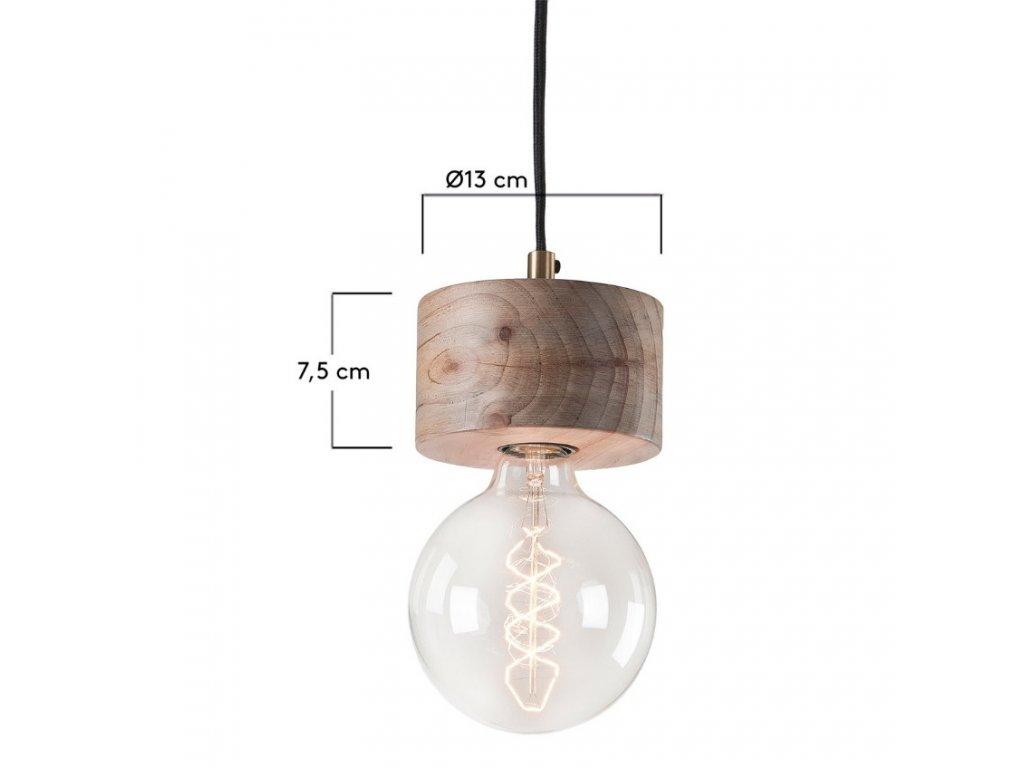 Závěsná dřevěná lampa ALLER I., jednoduchost, jedinečnost